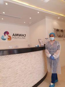 Reception desk - Amwaj Polyclinic